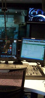 Inside the radio studio